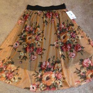 LuLaRoe Floral Lola Skirt